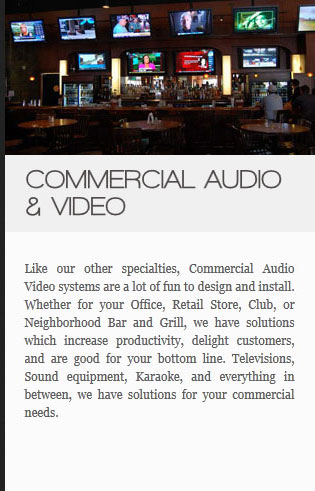 commercial audio-and-video